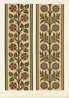 Floral pattern from The Practical Decorator and Ornamentist (1892) by G.A Audsley and M.A. Audsley. Digitally enhanced from our own original first edition of the publication. | free image by rawpixel.com