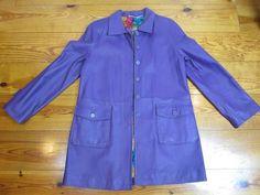 Purple Jacket Genuine Leather A-Line Coat Size 10 #Unbranded #BasicJacket