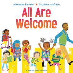 All Are Welcome First Day Jitters, First Day Of School, School Wide Themes, Back To School Activities, Group Activities, Book Themes, New Books, Library Books, Great Books