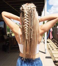 Dutch braids half up half down,,easy half up half down hairstyles,boho hairstyles,easy hairstyle do Dutch Braid Half Up, Braid Half Up Half Down, Dutch Braids, French Braid Hairstyles, Box Braids Hairstyles, Bohemian Hairstyles, Braided Hairstyles Medium Hair, Boho Hairstyles For Long Hair, Saree Hairstyles