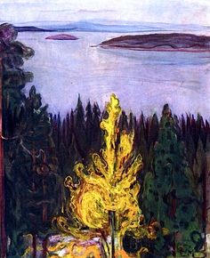 Edvard Munch - View from Nordstrand (1900)