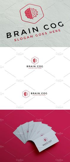 Brain Cog Logo by Gris Fox on @Graphicsauthor
