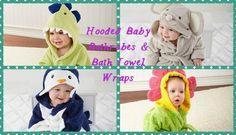 Boys Girls Kids Novelty Character Hooded Towel Poncho Swim Beach Bath HOT FI