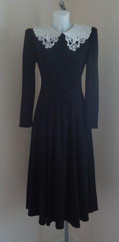 Vintage dresses 50% off!!!!Vintage Lanz Original Black Dress on Etsy,