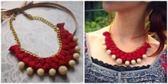 Vemale.com - Ladies, sebentar lagi ada acara istimewa Crochet Necklace, Beaded Necklace, Lady, Creative, Accessories, Jewelry, Projects, Fashion, Beaded Collar