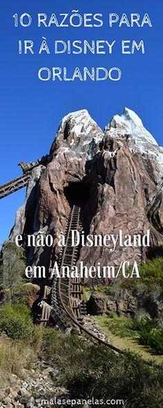 10 razões para ir à Disney em Orlando e não à Disneyland em Anaheim/CA | Malas e Panelas