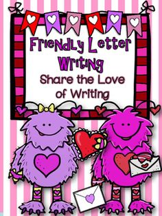 Valentines Day Friendly Letter Template  Friendly letter and