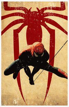 Superheroes Series  Batman Captain America Spiderman by sanasini, $50.00