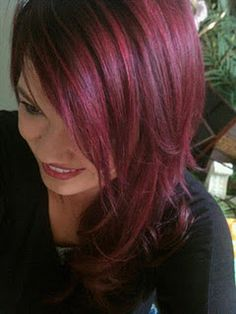 Dark Red Violet Hair... i like the color. would do it as a shadow underneath brown that is a couple shades darker than my natural color