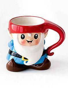 This cute gnome??? mug ($15). Cute Gifts, Gnomes