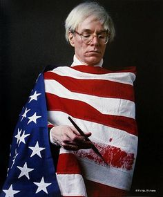 Andy Warhol, one of 60 Celebs Wearing Flag Inspired Fashion at http://www.ifitshipitshere.com/american-beauty-flag-inspired-fashion/