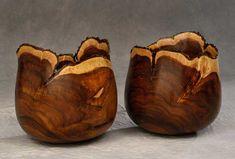 Honorable mention R.W.Butts, Natural Pair - natural edge bowls