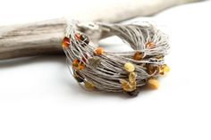Multicolor Baltic Amber Bracelet Organic Zen by DreamsFactory