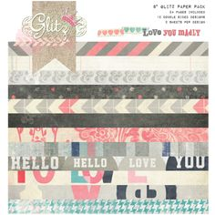 The Scrap Review - Scrapbook Product Reviews / Glitz Design Love You Madly (It's rare for me to like a Valentine's Day line, but I like the gray and desaturated tones mixed with graphic patterns instead of the usual frilliness.)
