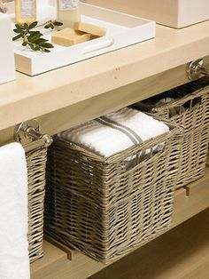 Baskets make it all organized.....and pretty.