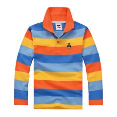 Top quality boys girls long sleeve t shirt  brand new fashion cotton school uniform big baby clothing