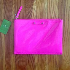 Kate Spade Hot Pink Clutch Kate Spade Pinksaphre clutch, new with tags kate spade Bags Clutches & Wristlets