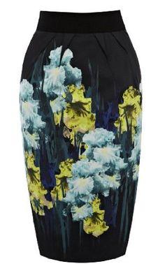 Karen Millen Iris Print Pencil Skirt : Skirts