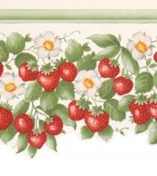 Diseño de cenefas en este papel pintado de la colección Little Garden de Limonta.