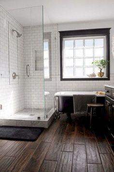 80 Awesome Farmhouse Tile Shower Decor Ideas (49)