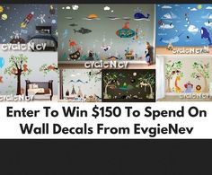 Enter now to win a Set of EvgieNev vinyl wall decals worth $150.00. You have through 7/27 to enter. Good luck. Looks like some new designs.