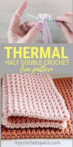 Crochet Potholder Patterns, Crochet Stitches Free, Crochet Dishcloths, Crochet Basics, Afghan Crochet, Crochet Blankets, Free Christmas Crochet Patterns, Crochet Block Stitch, Crochet Shell Pattern