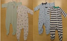 Recall Alert! Some of Carter's Infant Clothing footie pj's. Check this out to get a list of them! Something about their zippers... Eeek!