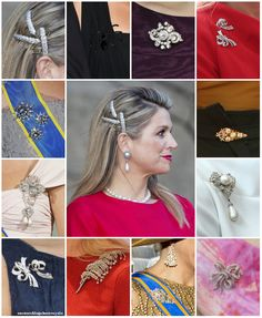 onemoreblogaboutroyals:  Queen Maxima's brooches