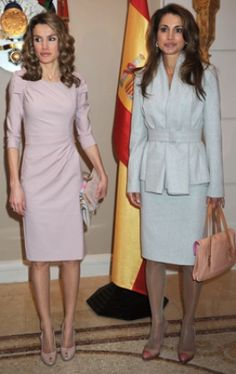 Queen Rania and Letizia of Spain