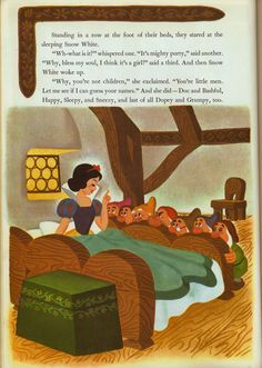 Walt Disney's Snow White and the Seven Dwarfs  Illustrated by The Walt Disney Studio  Adapted by Campbell Grant & Jane Werner  Copyright 1952