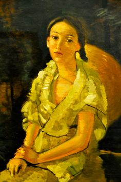 Andre Derain - La Niece du peintre assise, 1931 at Musée de l'Orangerie Paris France