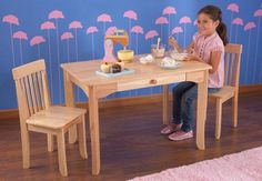 Kid Kraft Table and Chairs - Avalon Table and Chair Set - Natural- Kids Furniture for any Nursery or Kids Room - Tables & Chairs