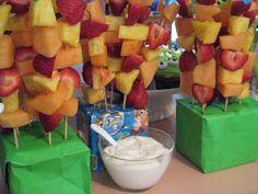 Galvas House fruit kabobs