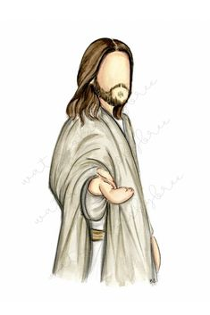 beautiful watercolor pictures of Jesus Christ Paintings Of Christ, Jesus Christ Painting, Jesus Artwork, Christian Drawings, Christian Artwork, Catholic Art, Religious Art, Croix Christ, Jesus Sketch