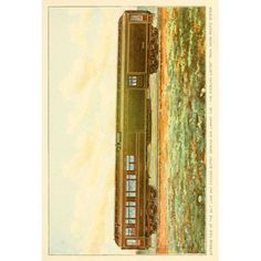 A souvenir of the Overland limited train 1897 Buffet Smoking & Library car Canvas Art - Unknown (18 x 24)