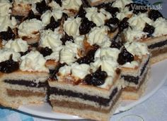 Czech Recipes, Russian Recipes, No Bake Cake, Christmas Cookies, Sweet Recipes, Holiday Recipes, Sweet Tooth, Cheesecake, Dessert Recipes