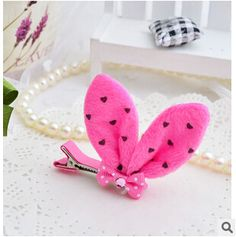 KH110-Kawaii-Princess-Polka-Dot-Bunny-Rabbit-Ears-Bow-Hair-Clips-Girls-Lovely-Tiny-Felt-Clip.jpg (310×312)