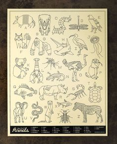 animals a-z, neighborhood studio  ... I'm tired of most A-Z Animal posters (every designer has done one), but this one is subdued and classy.