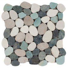 Durian River Flat Pebble Stone Mosaic