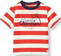 Captain Charmer Striped Tee from Janie & Jack for him. #valentinesday #giftsforboys
