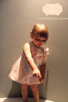 The Sweetheart Dress And Bouffant Bow PDF by ninabonitadesigns