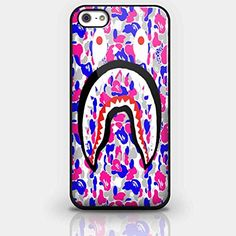 Bape Shark Camo Logo Bathing Ape Wallpapers Camou Flage for Iphone and Samsung Galaxy Case (iPhone 5/5s Black)
