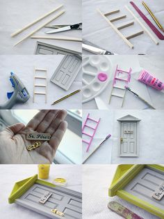 1 million+ Stunning Free Images to Use Anywhere Wooden Craft Sticks, Wooden Crafts, Craft Stick Crafts, Diy Fairy Door, Tooth Fairy Doors, Tooth Mouse, Fairy Garden Accessories, Miniature Crafts, Barbie House
