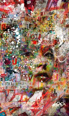"Receive wonderful ideas on ""buy art artworks"". They are on call for you on our web site. Abstract Portrait, Portrait Art, Abstract Art, Paper Collage Art, Painting Collage, Acrylic Paintings, Expressive Art, Magazine Art, Art Plastique"
