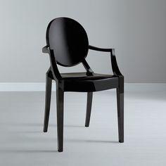 Cadeira Sophia Preta (com braços)