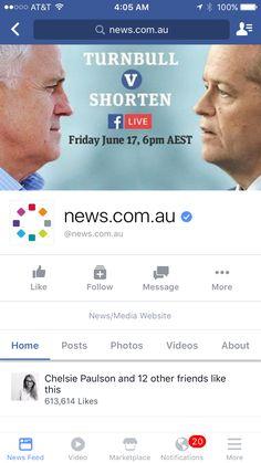 Australian leaders debate on Facebook