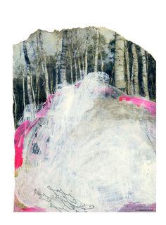 Camino blanco. Collage. © Larissa van der Klip www.la-klip.com