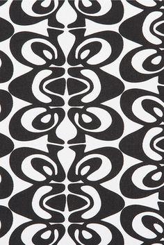 10oz Drill Fabric - Sori (bleach/black)