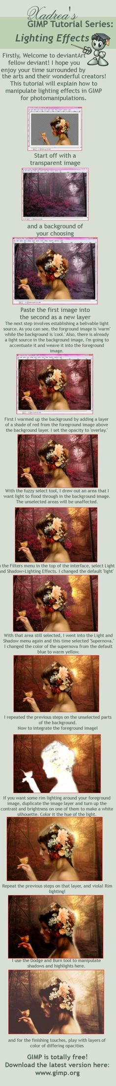 Gimp Tutorial: Lighting Effects by Xadrea on DeviantArt                                                                                                                                                                                 More