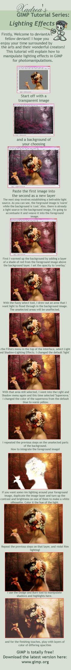 Gimp Tutorial: Lighting Effects by Xadrea on DeviantArt